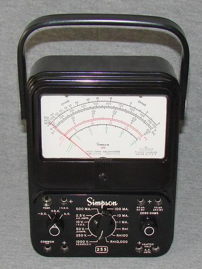 Clamp On Milliammeter : Simpson volt ohm milliammeter