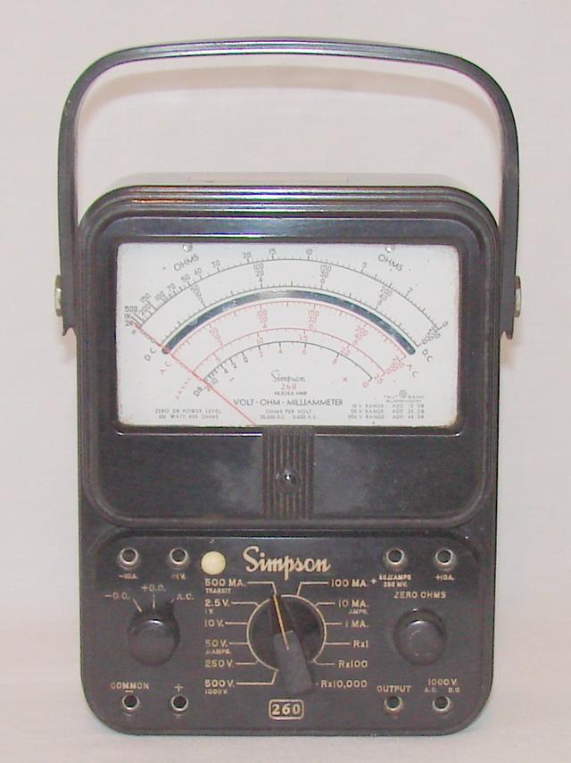 Clamp On Milliammeter : Simpson series mp volt ohm milliammeter