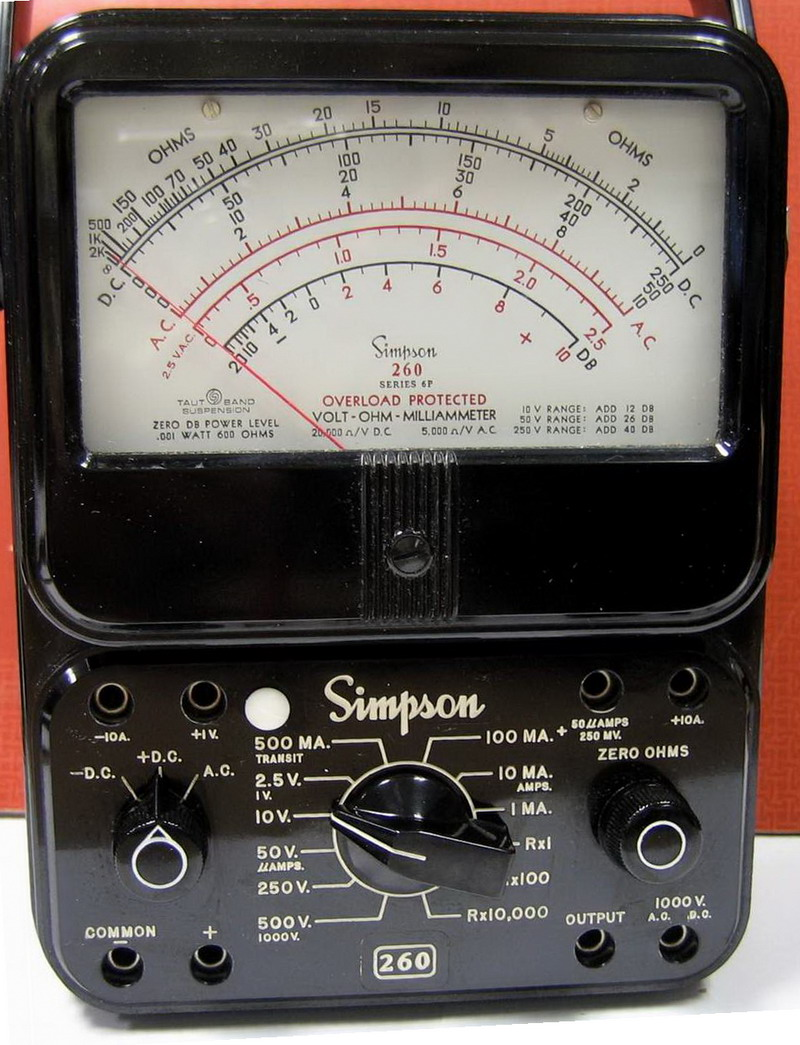 Simpson Electric Ac High Voltage Probe : Simpson series p volt ohm milliammeter