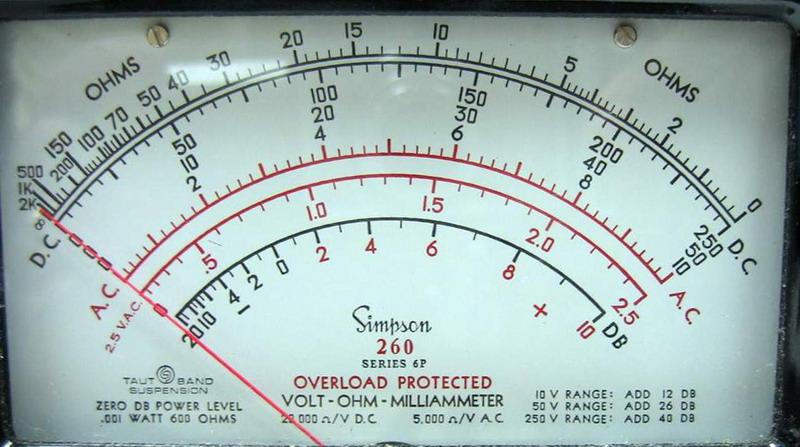 Clamp On Milliammeter : Simpson series p volt ohm milliammeter