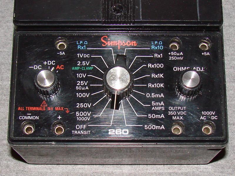 Clamp On Milliammeter : Simpson xl volt ohm milliammeter