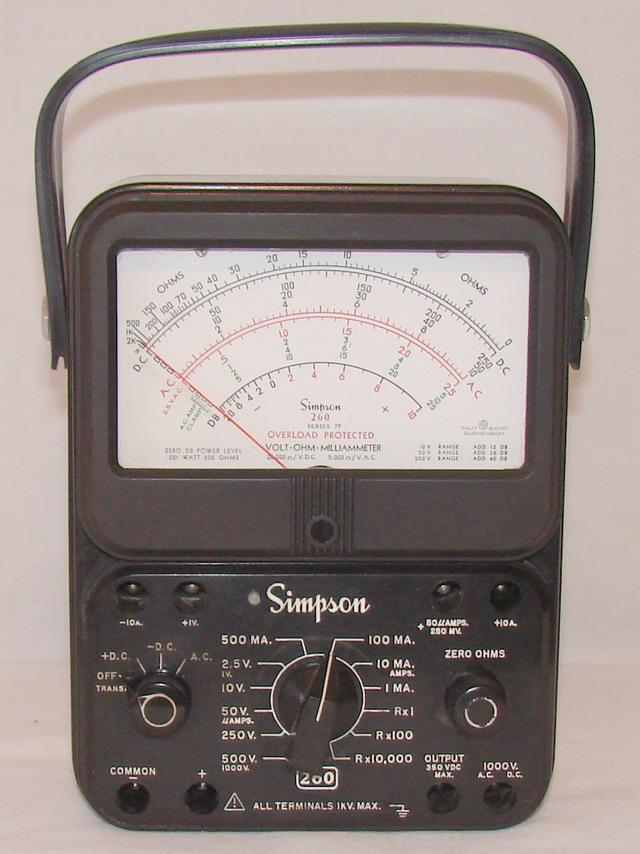 Simpson Ac Dc Clamp Meter : Simpson series p volt ohm milliammeter