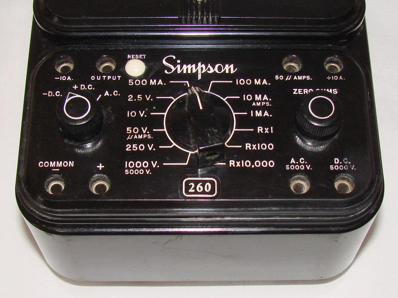 Simpson 260 Series Afp 1 Volt Ohm Milliammeter