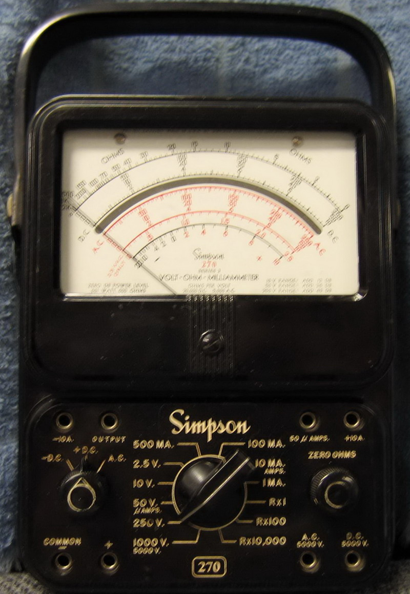 Simpson 270 Series 2    Volt - Ohm